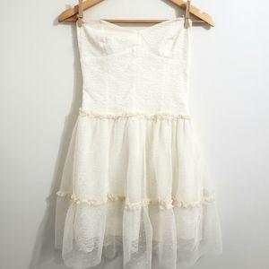 Zara | Lace Strapless Dress